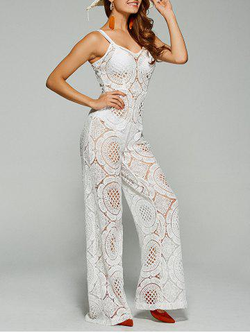 Sale Sleeveless Lace Jumpsuit Palazzo Pants