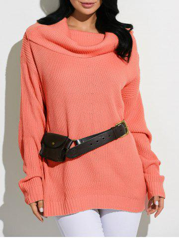 Discount Cowl Neck Oversized Sweater