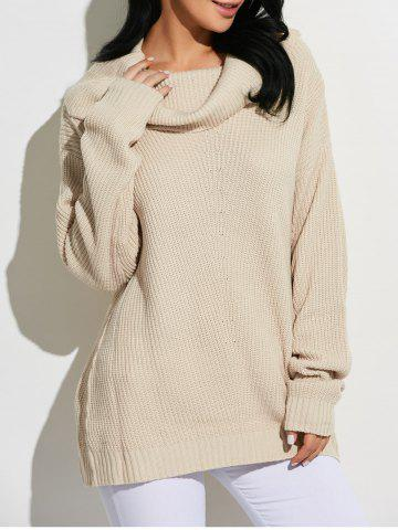 Outfits Cowl Neck Oversized Sweater -   Mobile