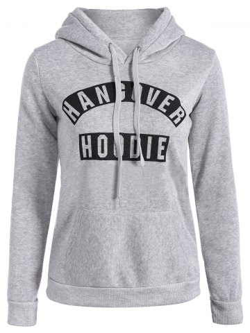 Chic Casual Drawstring Hangover Hoodie