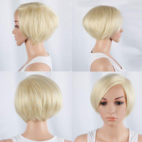 Fancy Graceful Short Side Bang Straight Synthetic Wig