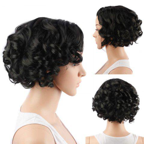 Hot Fascinating Short Side Parting Curly Synthetic Wig