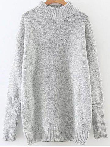 Trendy High Neck Long Loose Sweater