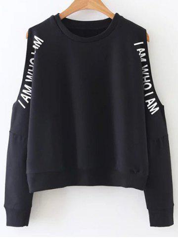 Buy am Cut Sweatshirt - Black M