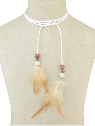 Shops Boho Feather Tie Choker Necklace