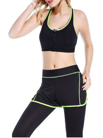 Outfit Front Close Zipper Sporty Bra