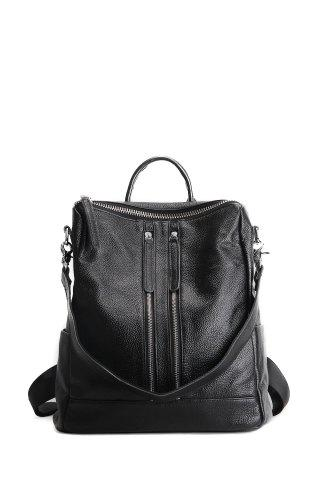Textured Leather Multi Zips Backpack - Buy it while supplies last