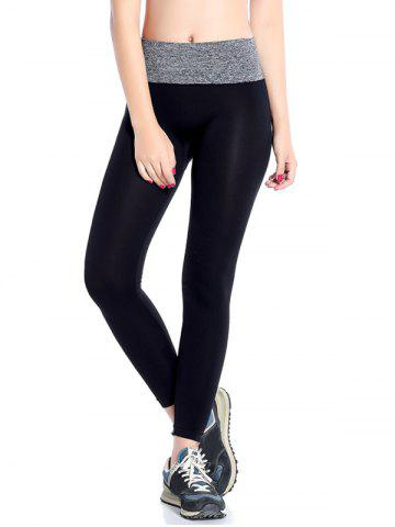 Chic Slimming  High Waisted Yoga Leggings GRAY L