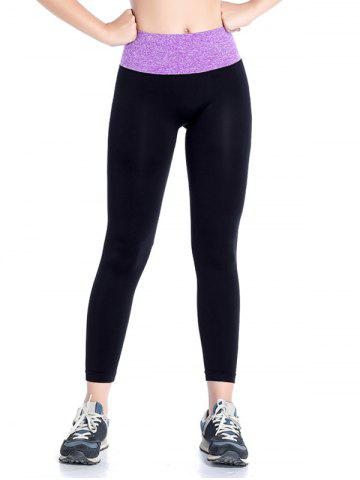 Slimming  High Waisted Yoga Leggings - Purple - S
