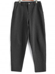 Plus Size Striped Harem Pants -