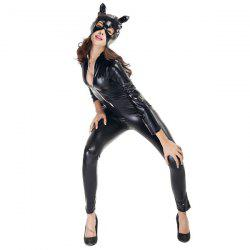 Patent Leather with Kitten Neutral Locomotive Halloween Party Dress Suit