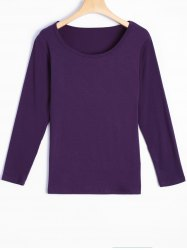 Elastic Long Sleeve T-Shirt -