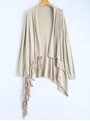One Tassel Knit Cardigan -