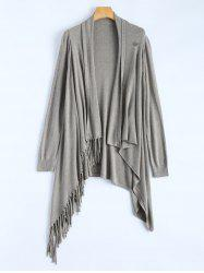 One Tassel Knit Cardigan