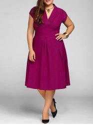 V Neck Plus Size A Line Party Dress