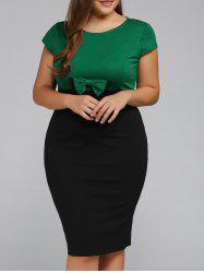 Plus Size Cape Sleeve Bodycon Dress