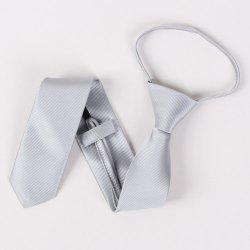 High Grade Twill Pattern Pure Color 6.5cm Widt Tie - GRAY