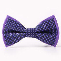 Small Tartans Pattern Double-Deck Bow Tie - PURPLE