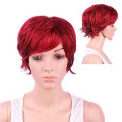 Short Side Bang Slightly Curled Synthetic Wig