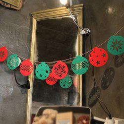 Snowflake Balloon Bunting Garland Christmas Party Decoration - RED AND GREEN