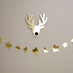 Gold Star Bunting Garland Christmas Party Decoration Supplies - GOLDEN
