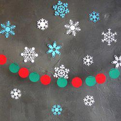 Christmas Party School Ball Bunting Garland Prop Decoration