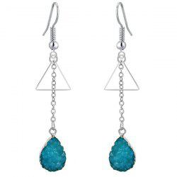 Waterdrop Triangle Tassel Dangle Drop Earrings