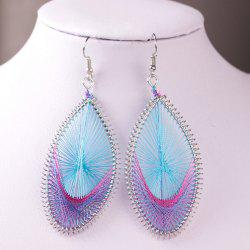 Handwork Filigree Oval Drop Earrings