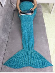 Acrylic Knitting Mermaid Tail Sofa Blanket