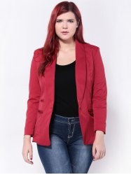 Slimming Twin Pockets Blazer - RED