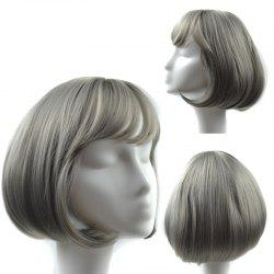 Straight Short Neat Bang Bob Synthetic Wig