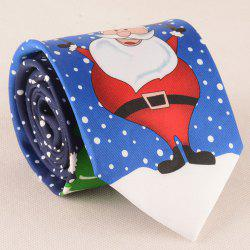 Funny Santa Claus with Snowman Christmas Tie