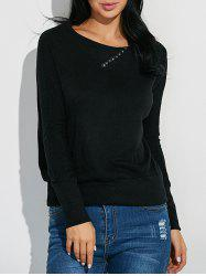 Ribbed Button Embellished Knitwear -