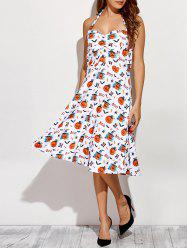 Halter Halloween Printed Dress -