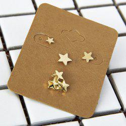Alloy Star Jewelry Earring Set