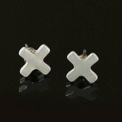 Alloy Cross Stud Earrings