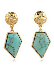 Artificial Turquoise Irregular Geometric Earrings