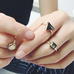 Vintage Geometric Jewelry Ring Set