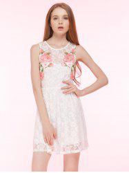 Embroidered Lace Summer Skater Dress