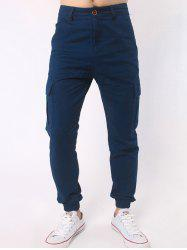 Side Pockets Chino Jogger Pants