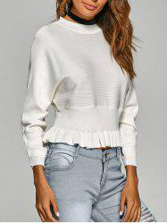 Batwing Sleeve Peplum Sweater -