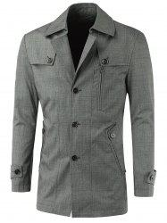 Turn-Down Collar Button Up Spliced Jacket