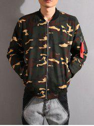 Stand Collar Camouflage Thicken Zip-Up Jacket
