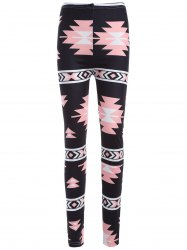 Mid Rise Geometric Print Leggings