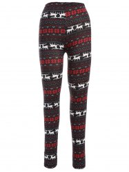 Deer Print Christmas Leggings