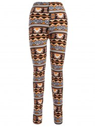 Aztec Print Ankle Leggings -