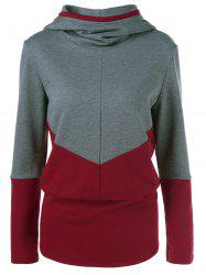 Color Block Spliced Hoodie