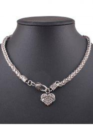 Rhinestone Love Heart Necklace -