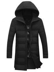 Hooded Lengthen Thicken Cotton-Padded Coat -