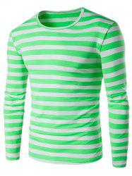 Long Sleeve Round Neck Striped T-Shirt